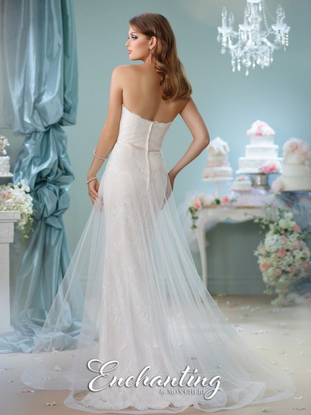 Picture of Back of 116134 Wedding Dress - Enchanting by Mon Cheri Spring 2016 Bridal Collection