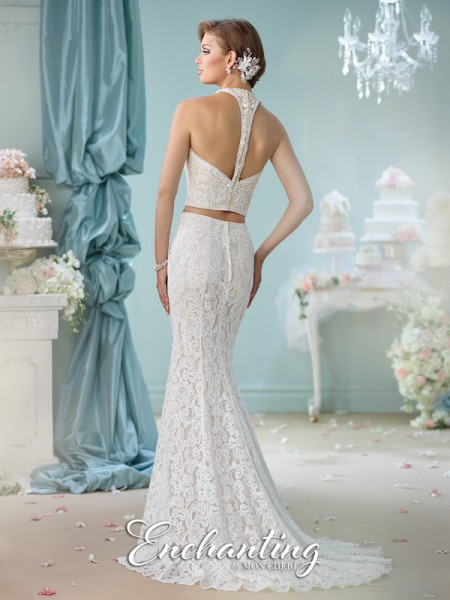 Picture of Back of 116135 Wedding Dress - Enchanting by Mon Cheri Spring 2016 Bridal Collection