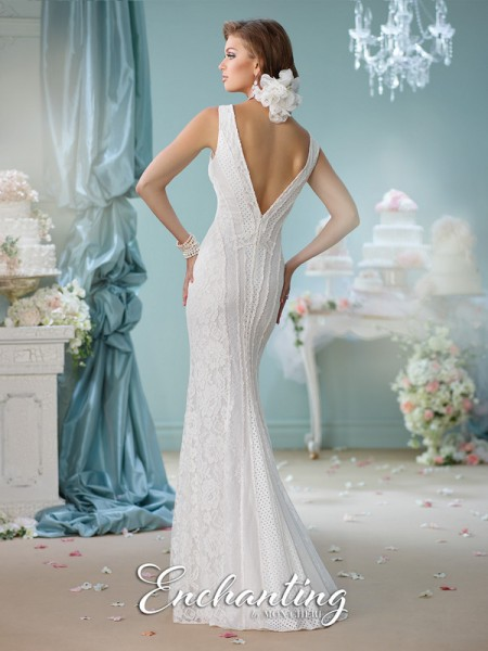 Picture of Back of 116138 Wedding Dress - Enchanting by Mon Cheri Spring 2016 Bridal Collection