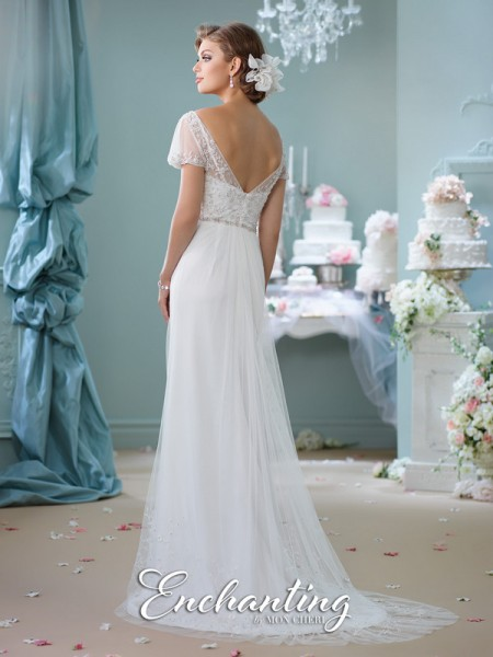 Picture of Back of 116139 Wedding Dress - Enchanting by Mon Cheri Spring 2016 Bridal Collection