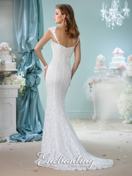 Picture of Back of 116140 Wedding Dress - Enchanting by Mon Cheri Spring 2016 Bridal Collection