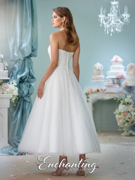 Picture of Back of 116141 Wedding Dress - Enchanting by Mon Cheri Spring 2016 Bridal Collection
