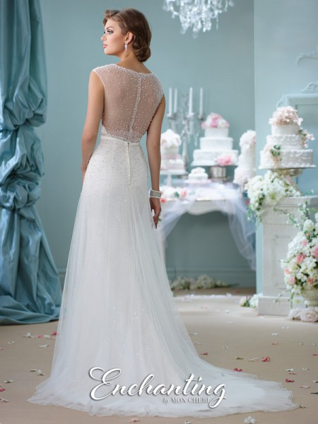 Picture of Back of 116142 Wedding Dress - Enchanting by Mon Cheri Spring 2016 Bridal Collection