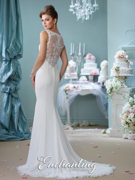 Picture of Back of 116143 Wedding Dress - Enchanting by Mon Cheri Spring 2016 Bridal Collection
