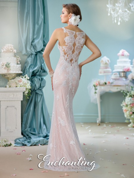 Picture of Back of 116144 Wedding Dress - Enchanting by Mon Cheri Spring 2016 Bridal Collection