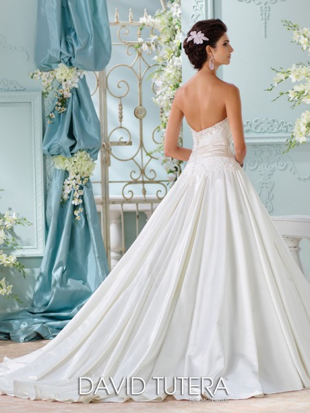 Picture of Back of 116200 - Heloise Wedding Dress - David Tutera for Mon Cheri Spring 2016 Bridal Collection