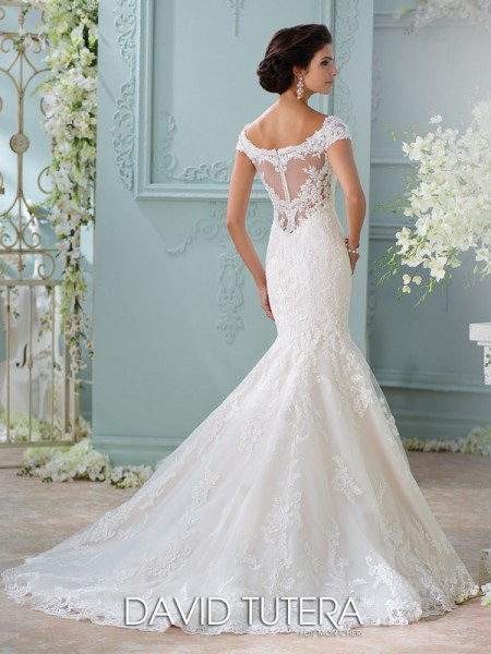 Picture of Back of 116201 - Aura Wedding Dress - David Tutera for Mon Cheri Spring 2016 Bridal Collection