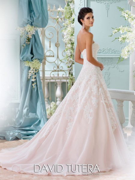 Picture of Back of 116202 - Soleleil Wedding Dress - David Tutera for Mon Cheri Spring 2016 Bridal Collection