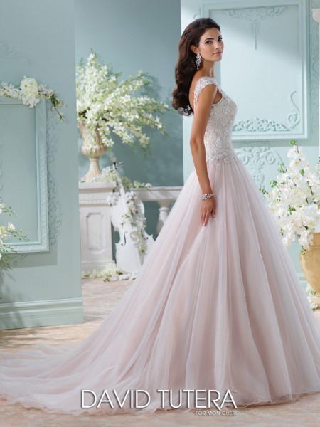 Picture of Back of 116203 - Idalia Wedding Dress - David Tutera for Mon Cheri Spring 2016 Bridal Collection