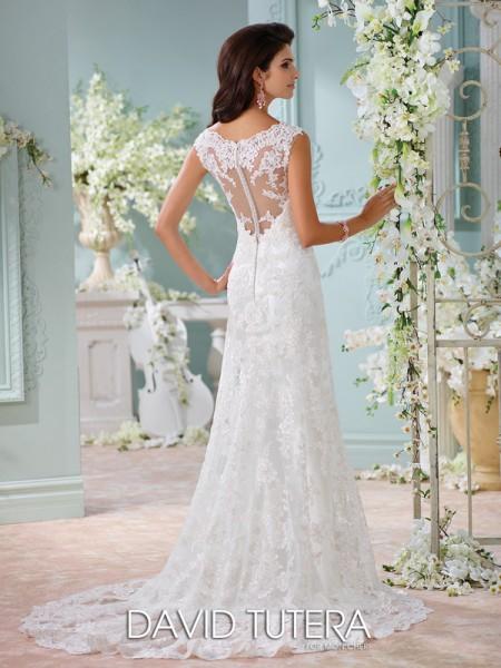 Picture of Back of 116204 - Dayton Wedding Dress - David Tutera for Mon Cheri Spring 2016 Bridal Collection