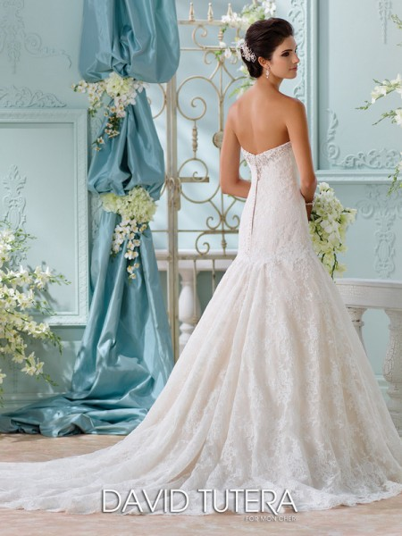 Picture of Back of 116205 - Chasca Wedding Dress - David Tutera for Mon Cheri Spring 2016 Bridal Collection