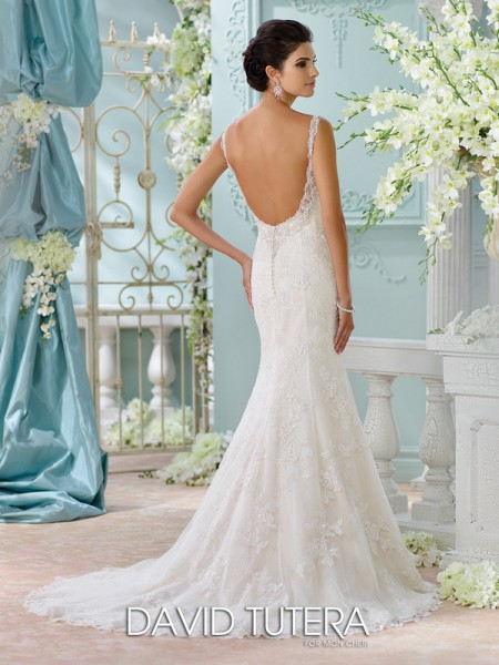 Picture of Back of 116206 - Marigold Wedding Dress - David Tutera for Mon Cheri Spring 2016 Bridal Collection