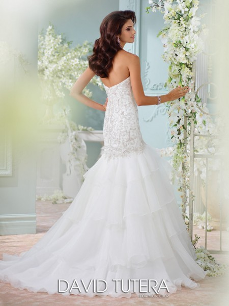 Picture of Back of 116207 - Savi Wedding Dress - David Tutera for Mon Cheri Spring 2016 Bridal Collection