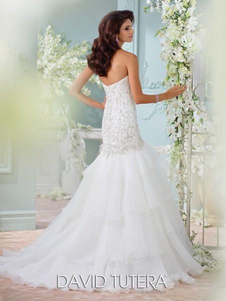 Picture of Back of 116207 - Savi Wedding Dress - David Tutera for Mon Cheri Spring 2016 Bridal Collection