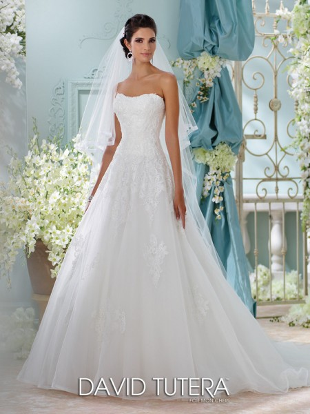 Picture of 116208 - Alesea Wedding Dress - David Tutera for Mon Cheri Spring 2016 Bridal Collection