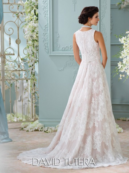 Picture of Back of 116209 - Rhyah Wedding Dress - David Tutera for Mon Cheri Spring 2016 Bridal Collection