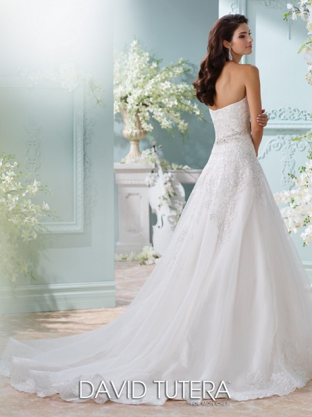 Picture of Back of 116210 - Laina Wedding Dress - David Tutera for Mon Cheri Spring 2016 Bridal Collection