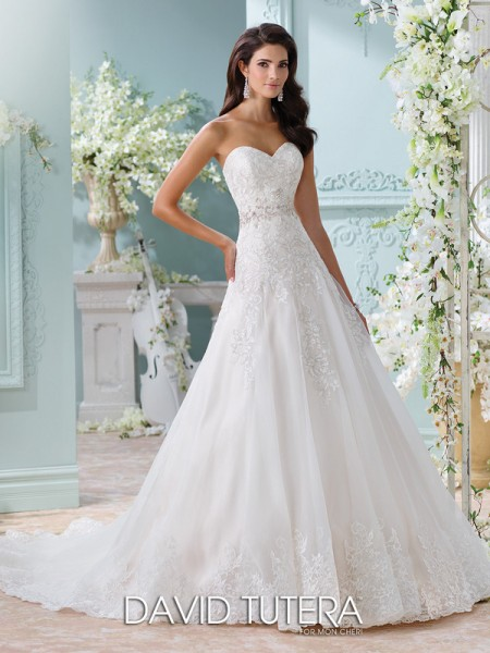 Picture of 116210 - Laina Wedding Dress - David Tutera for Mon Cheri Spring 2016 Bridal Collection