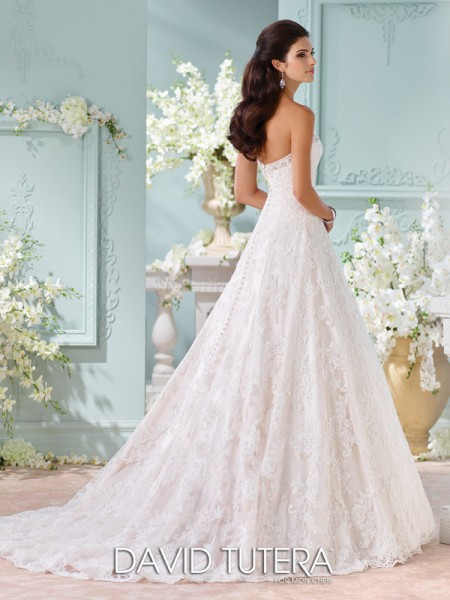 Picture of Back of 116211 - Clytie Wedding Dress - David Tutera for Mon Cheri Spring 2016 Bridal Collection