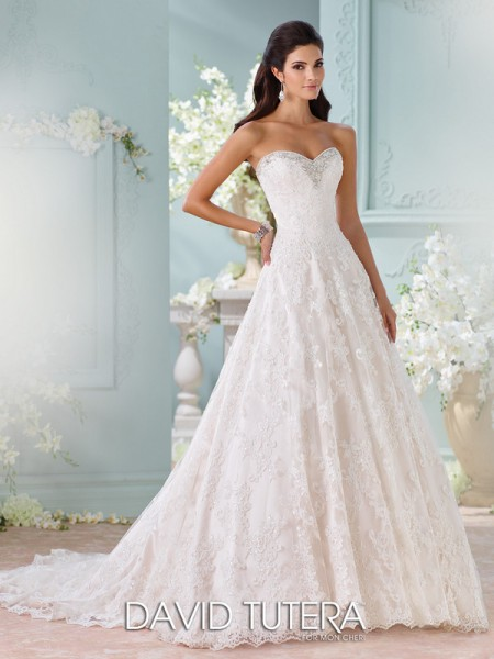 Picture of 116211 - Clytie Wedding Dress - David Tutera for Mon Cheri Spring 2016 Bridal Collection