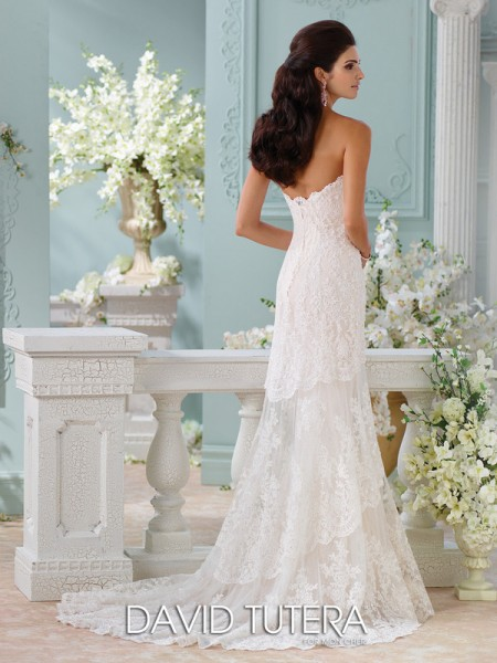 Picture of Back of 116212 - Eliana Wedding Dress - David Tutera for Mon Cheri Spring 2016 Bridal Collection