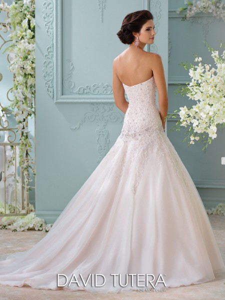 Picture of Back of 116214 - Ora Wedding Dress - David Tutera for Mon Cheri Spring 2016 Bridal Collection