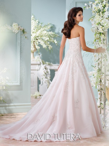 Picture of Back of 116216 - Sunniva Wedding Dress - David Tutera for Mon Cheri Spring 2016 Bridal Collection