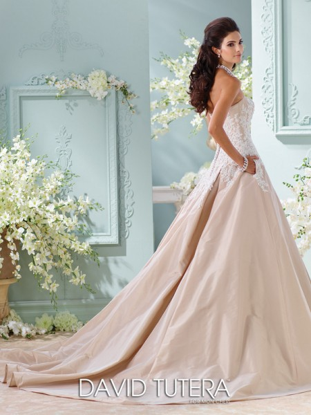 Picture of Back of 116217 - Alleen Wedding Dress - David Tutera for Mon Cheri Spring 2016 Bridal Collection