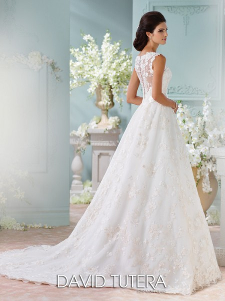 Picture of Back of 116218 - Kyra Wedding Dress - David Tutera for Mon Cheri Spring 2016 Bridal Collection
