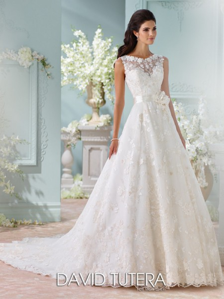 Picture of 116218 - Kyra Wedding Dress - David Tutera for Mon Cheri Spring 2016 Bridal Collection