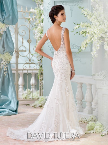 Picture of Back of 116220 - Colesha Wedding Dress - David Tutera for Mon Cheri Spring 2016 Bridal Collection
