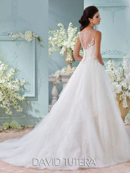 Picture of Back of 116221 - Adena Wedding Dress - David Tutera for Mon Cheri Spring 2016 Bridal Collection