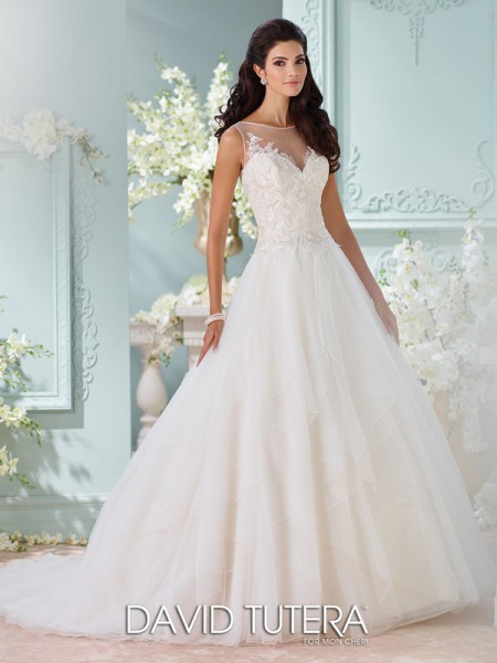 Picture of 116221 - Adena Wedding Dress - David Tutera for Mon Cheri Spring 2016 Bridal Collection