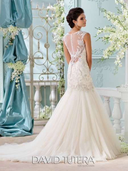Picture of Back of 116222 - Ica Wedding Dress - David Tutera for Mon Cheri Spring 2016 Bridal Collection
