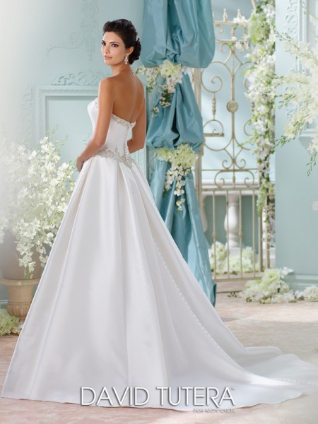 Picture of Back of 116223 - Selena Wedding Dress - David Tutera for Mon Cheri Spring 2016 Bridal Collection