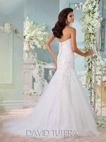 Picture of Back of 116224 - Lita Wedding Dress - David Tutera for Mon Cheri Spring 2016 Bridal Collection