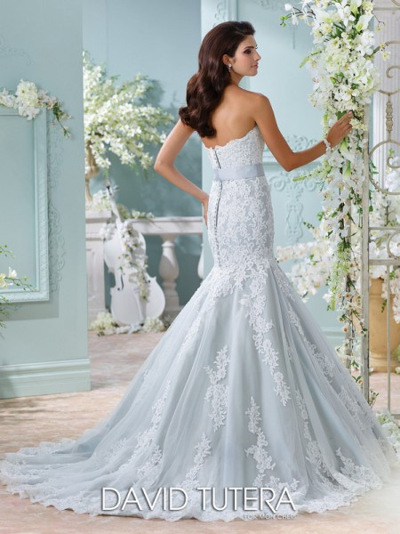Picture of Back of 116225 - Thea Wedding Dress - David Tutera for Mon Cheri Spring 2016 Bridal Collection