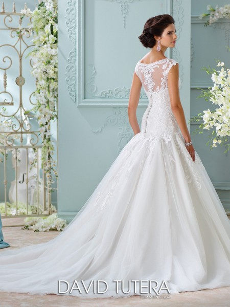 Picture of Back of 116226 - Chiara Wedding Dress - David Tutera for Mon Cheri Spring 2016 Bridal Collection