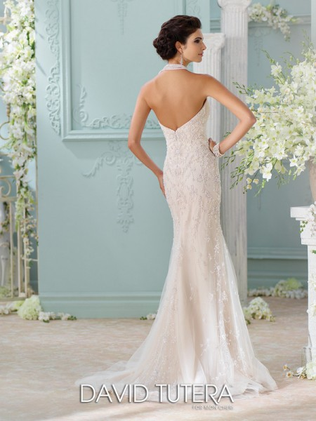 Picture of Back of 116228 - Edan Wedding Dress - David Tutera for Mon Cheri Spring 2016 Bridal Collection