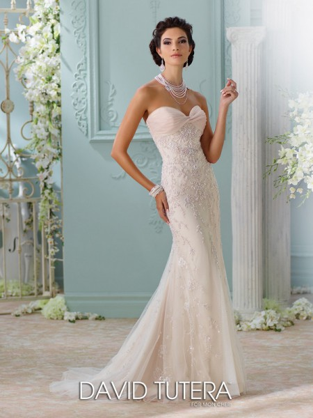Picture of 116228 - Edan Wedding Dress - David Tutera for Mon Cheri Spring 2016 Bridal Collection