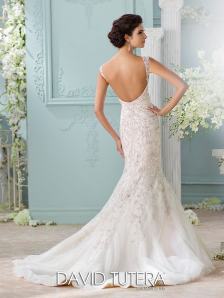Picture of Back of 116229 - Surya Wedding Dress - David Tutera for Mon Cheri Spring 2016 Bridal Collection