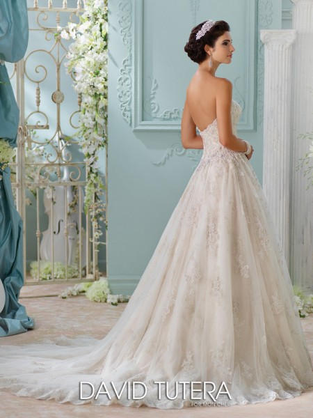 Picture of Back of 116230 - Jelena Wedding Dress - David Tutera for Mon Cheri Spring 2016 Bridal Collection