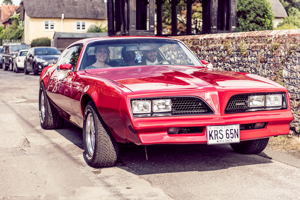 Pontiac Firebird wedding car
