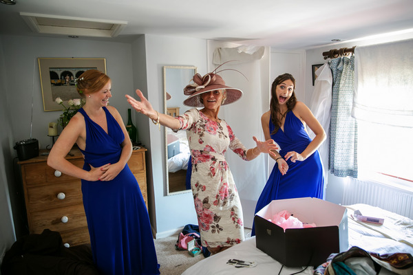 Bridesmaids and mother of the bride