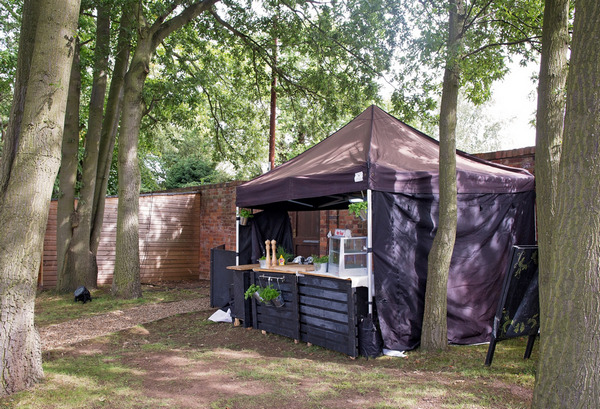 Catering tent at wedding