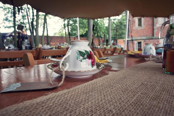 Teacup on wedding table