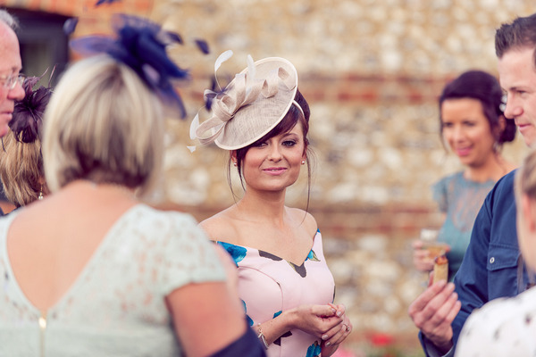 Wedding guest with hat