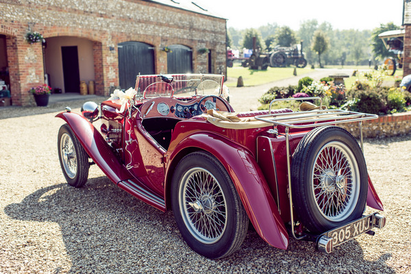MG TC 1947 vintage wedding car