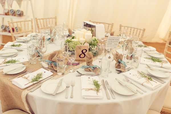 Vintage styled wedding table