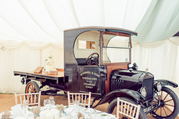 Ford Model T wedding cake table